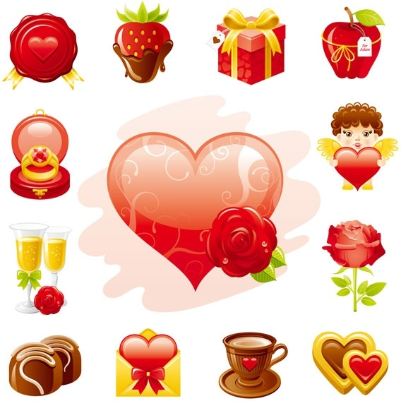 Love theme icon Free CDR Vectors Art