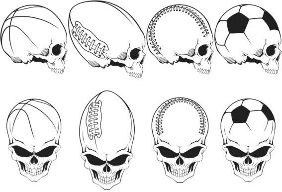 Movement element skull Free CDR Vectors Art