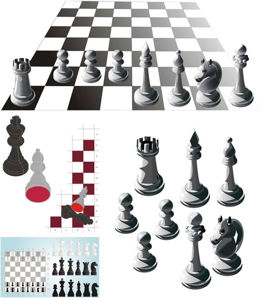 Game Chess Free CDR Vectors Art
