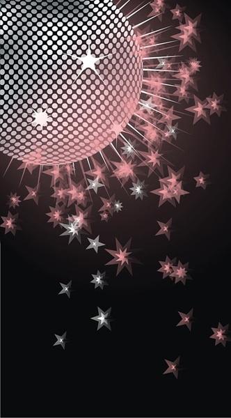 Dream disco crystal ball Free CDR Vectors Art