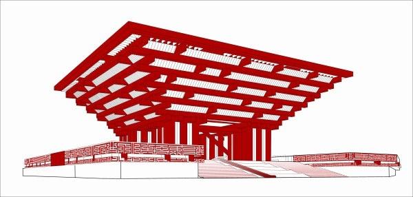World expo china pavilion Free CDR Vectors Art