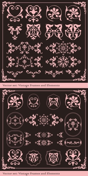 The exquisite lace angular decorative Free CDR Vectors Art