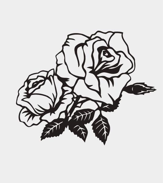 Rose pattern Free CDR Vectors Art