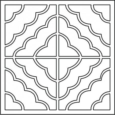 Cnc Panel Laser Cut Pattern File cn-l98 Free CDR Vectors Art