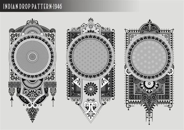 Classical pennants Free CDR Vectors Art