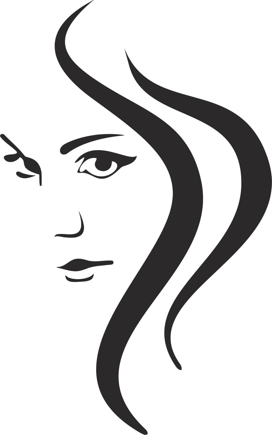 Woman Silhouette Beautiful Free CDR Vectors Art
