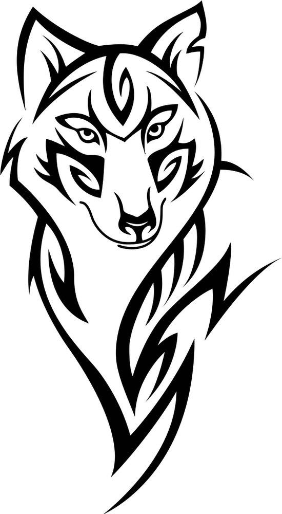 Wolf Head Tattoo Design Free CDR Vectors Art