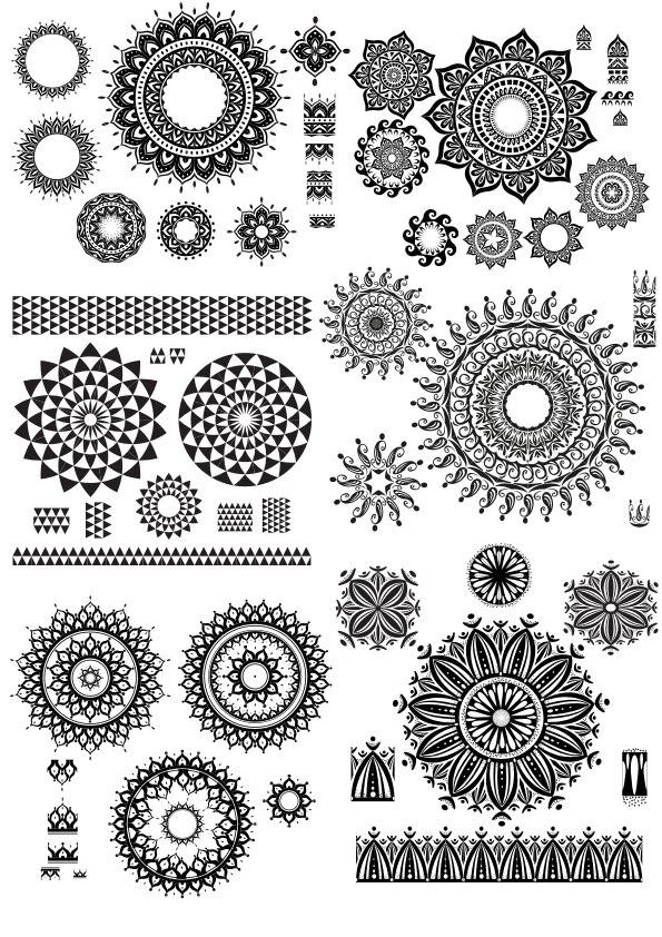 Geometric Circle Design Mandala Free CDR Vectors Art
