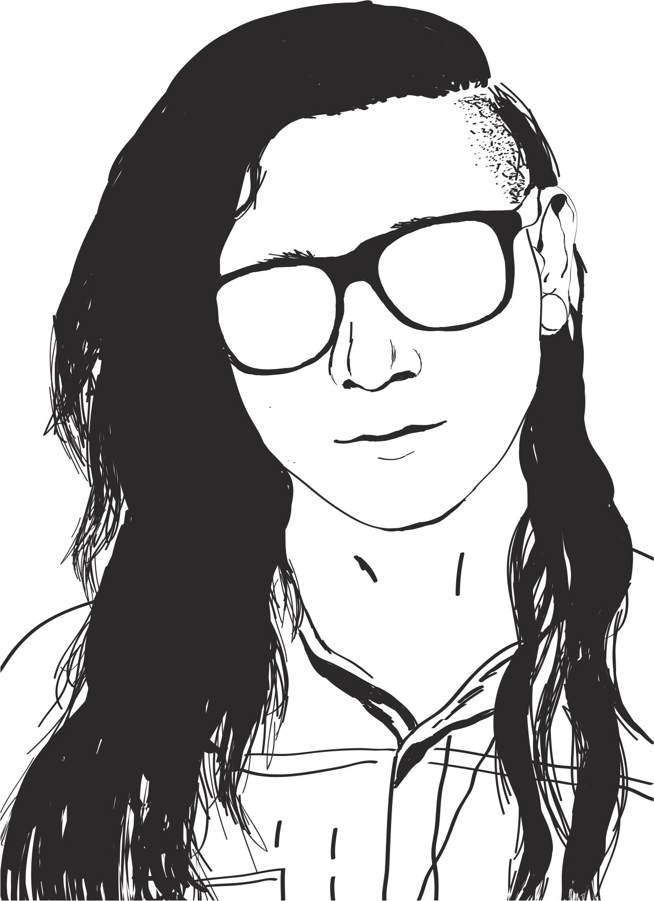 Girl Skrillex Sonny Moore By Michaelalebedikova Free CDR Vectors Art