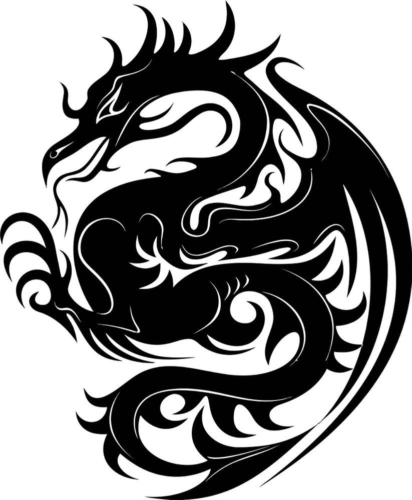 Dragon Stencil Big Free CDR Vectors Art