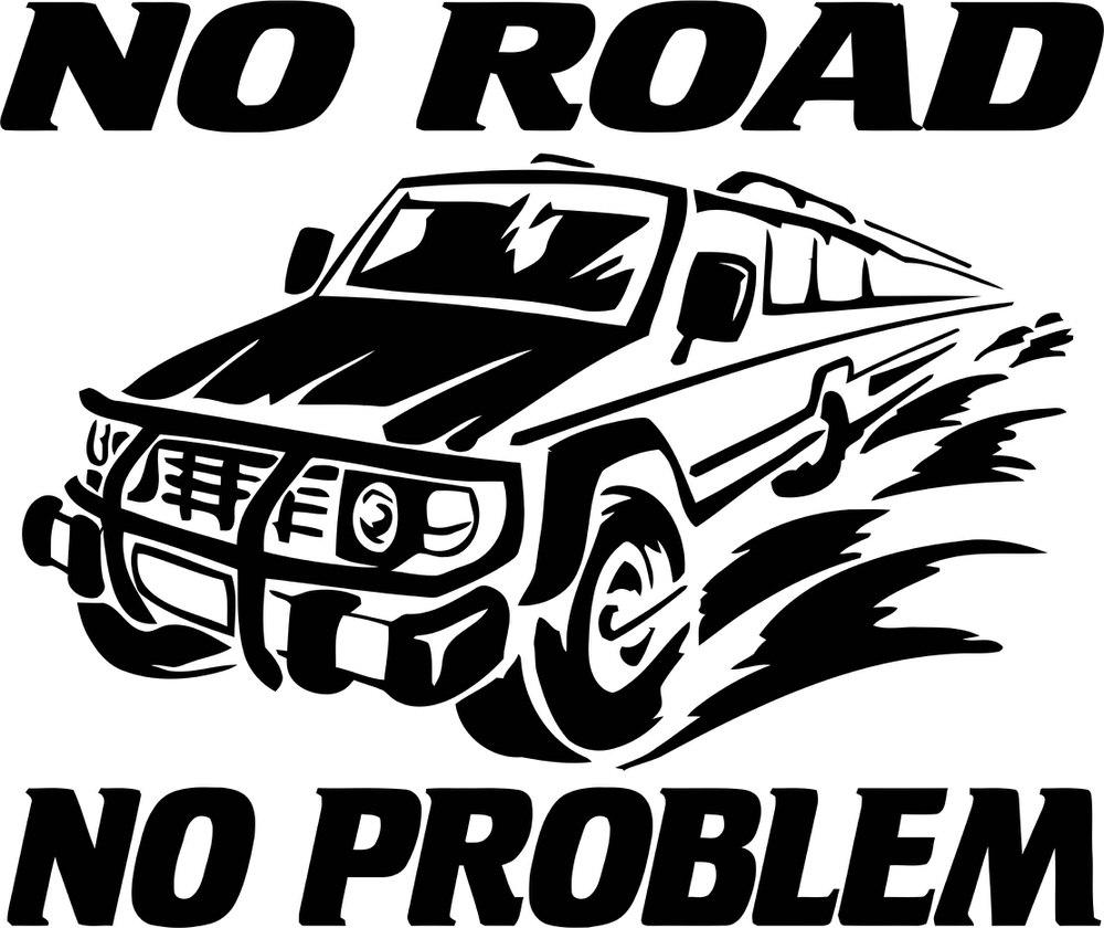 No Road No Problem Car Free CDR Vectors Art