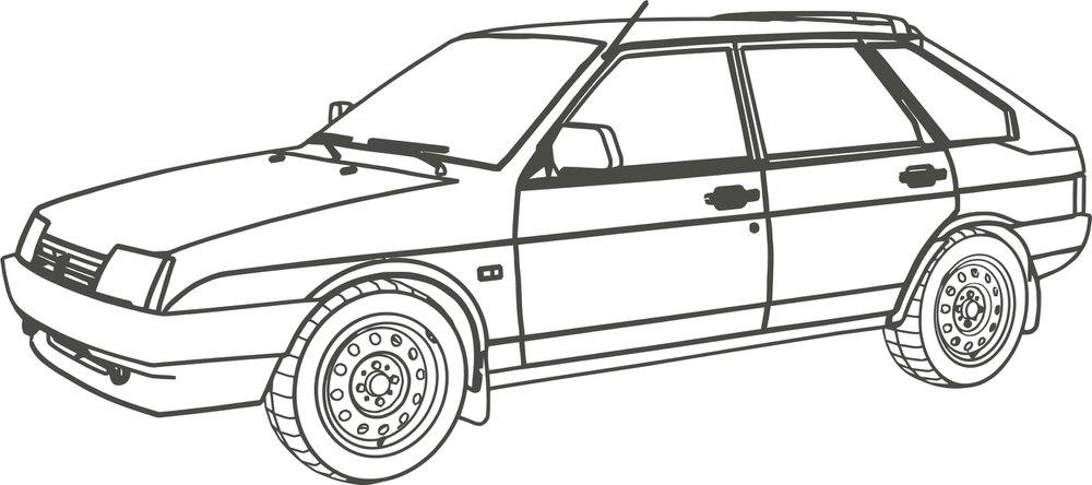 Car vaz-2109 Free CDR Vectors Art