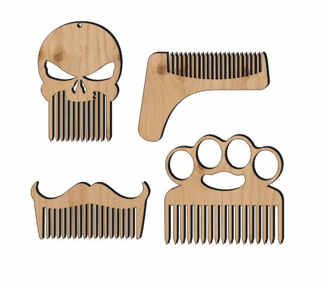 Hairbrushes Wooden Free CDR Vectors Art
