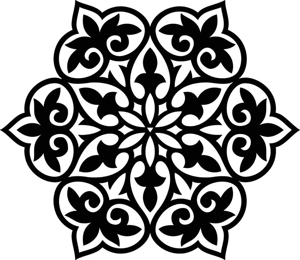 Floral Geometric Pattern Free CDR Vectors Art