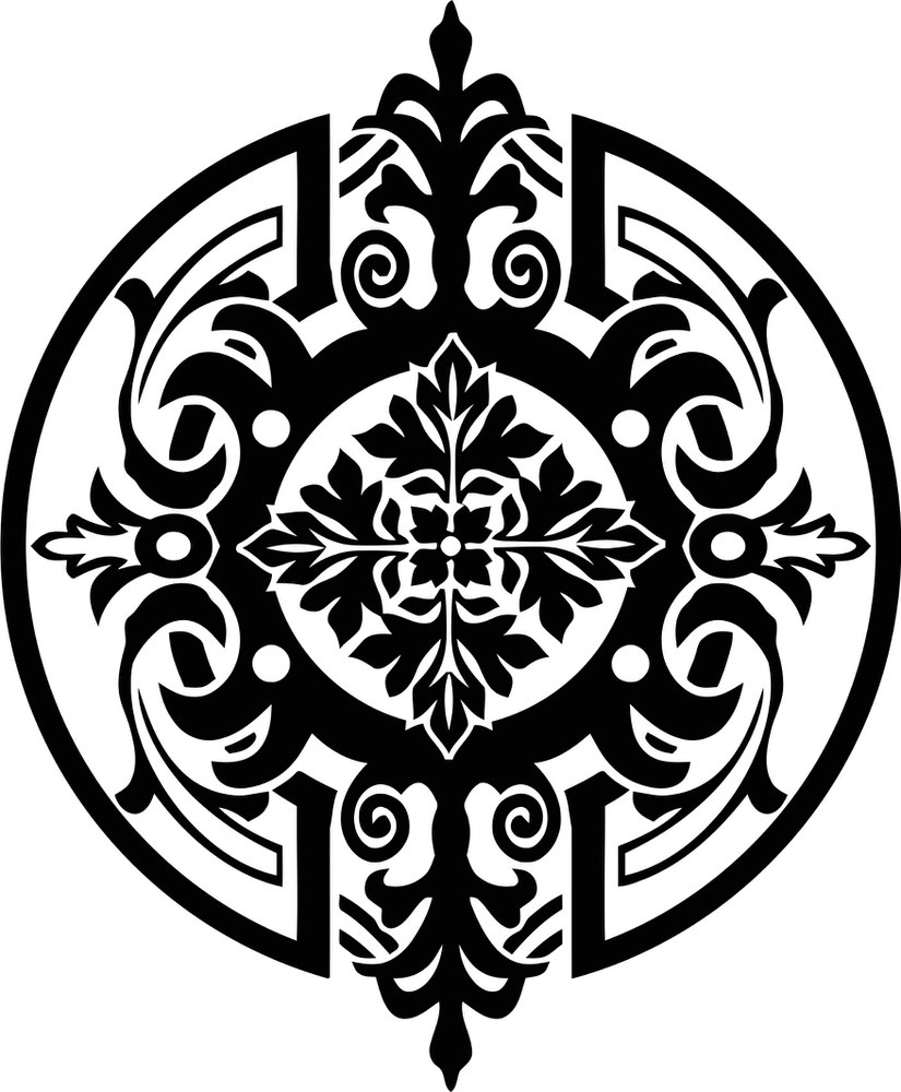 Mandala Stencil Medallion Free CDR Vectors Art
