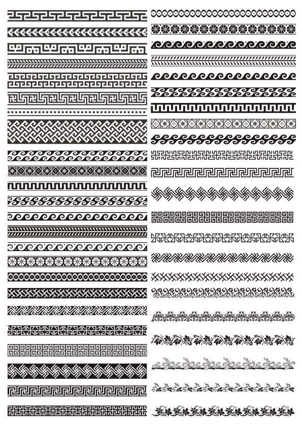 New Greek Border Pattern Free CDR Vectors Art