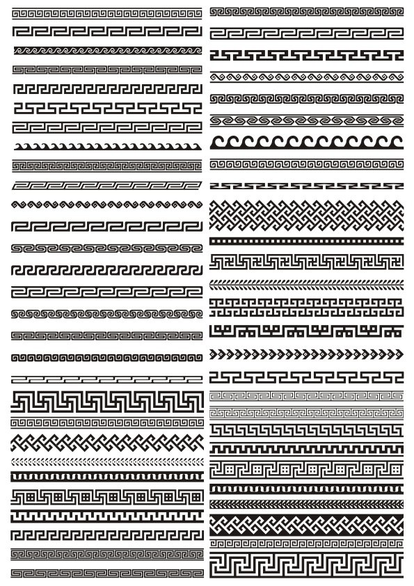 Greek Border Pattern Free CDR Vectors Art