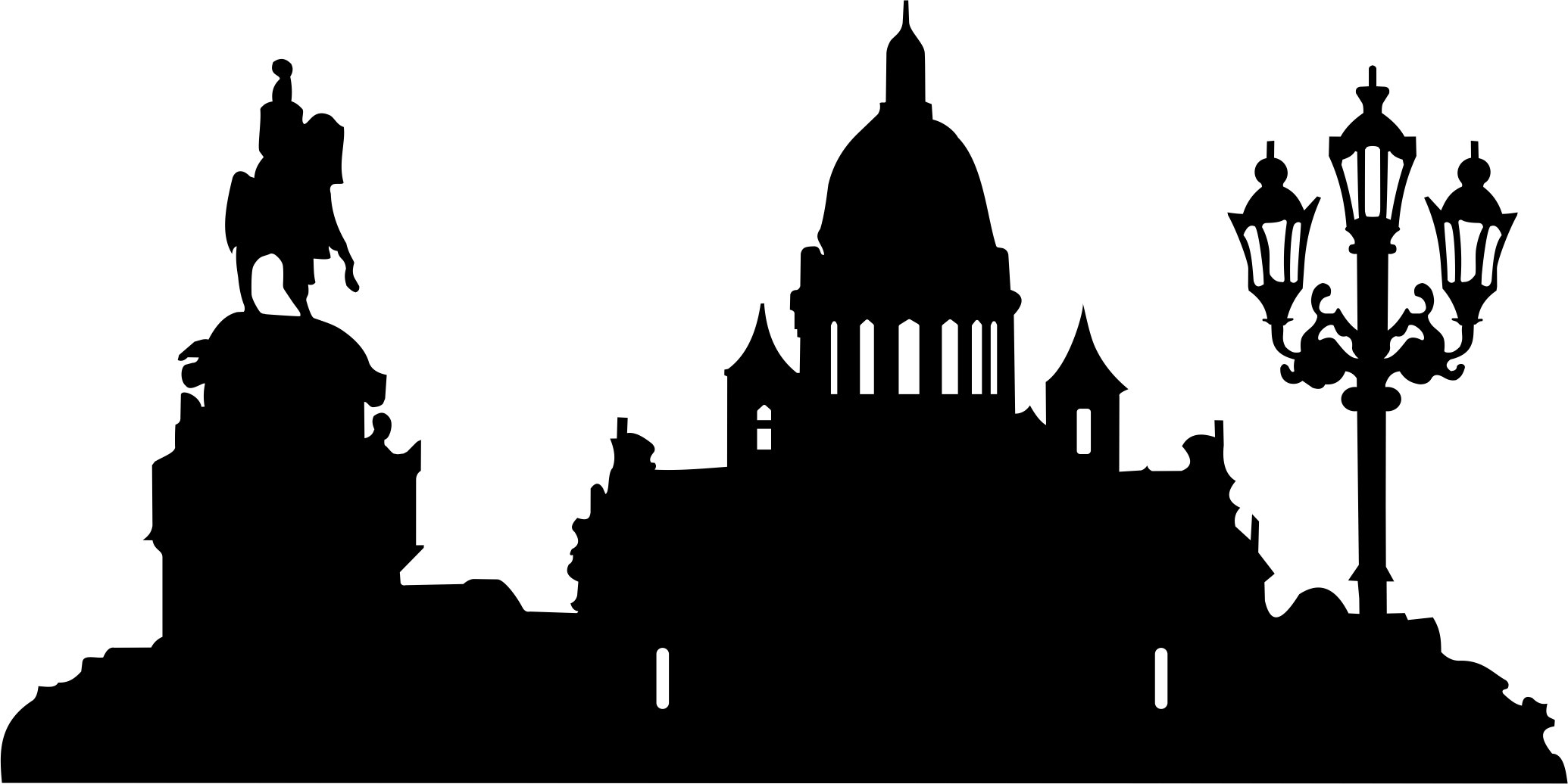 isaaky-spb Building Silhouette Free CDR Vectors Art