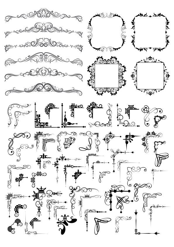 Decor Element Frame Set Free CDR Vectors Art