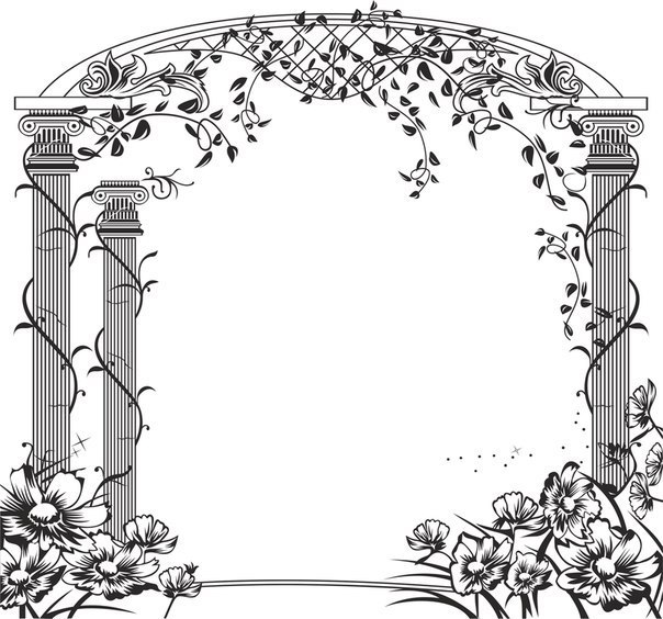 Floral Gate Design Free CDR Vectors Art