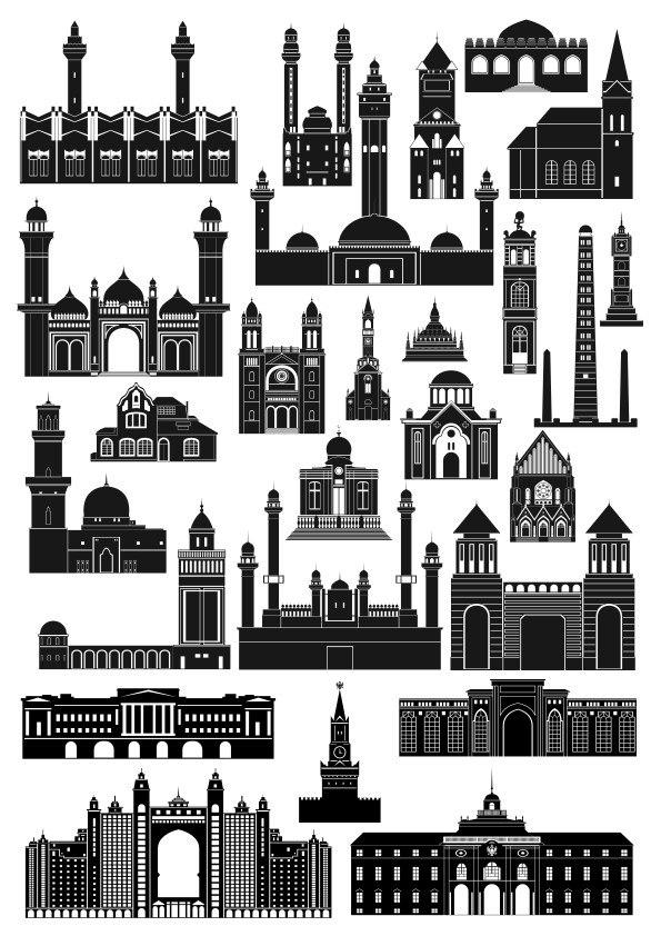 Architecture Islamic Building Free CDR Vectors Art