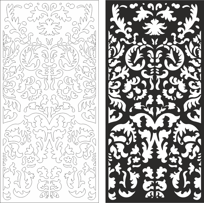 Swirly Ornament Seamless Free CDR Vectors Art