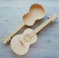 Guitar Shaped Wooden Box File Download For Laser Cut Free CDR Vectors Art