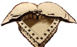 Heart Box Has Two Wings File Download For Laser Cut Free CDR Vectors Art