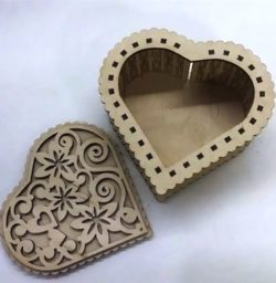 Heart Shaped Gift Box File Download For Laser Cut Free CDR Vectors Art