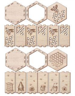 Honeycomb Box File Download For Laser Cut Free CDR Vectors Art
