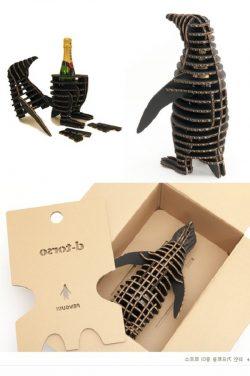 Penguins Wine Box File Download For Laser Cut Free CDR Vectors Art