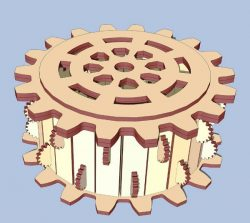 Wooden Gear Box File Download For Laser Cut Free CDR Vectors Art