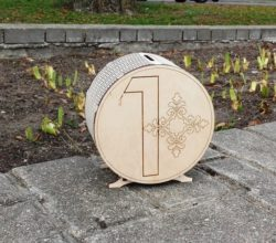 Wooden Money Box File Download For Laser Cut Free CDR Vectors Art