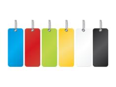 Colorful Labels Free CDR Vectors Art