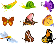 Insect icons collection various colorful types Free CDR Vectors Art