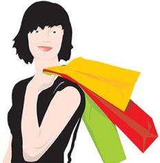 Shopping girl Free CDR Vectors Art
