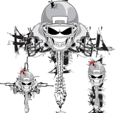 Vector Skeleton Football Helmets Free CDR Vectors Art