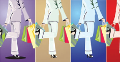 Beautiful Shopping Girl Free CDR Vectors Art