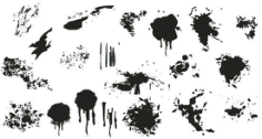 Splatter Free CDR Vectors Art