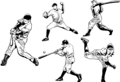 Baseball Player Free CDR Vectors Art