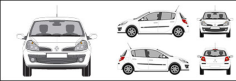 Renault Clio car Free CDR Vectors Art