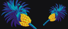 Cool pineapple vector material Free CDR Vectors Art
