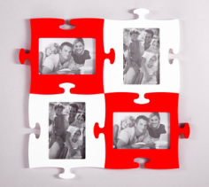 Puzzle Photo Frames Free CDR Vectors Art