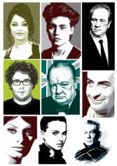 Celebrity Portraits Free CDR Vectors Art