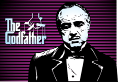 Marlon Brando Godfather Poster Free CDR Vectors Art