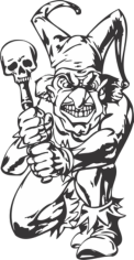 Bad Guy, Evil Clown Free CDR Vectors Art