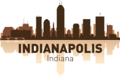 Indianapolis Skyline Free CDR Vectors Art