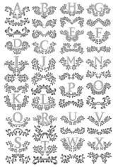 Floral Letters Free CDR Vectors Art