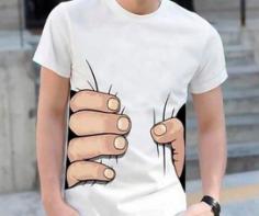 Big Hand Squeeze T Shirt Design Free CDR Vectors Art