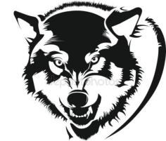 Mens wolf shirt Free CDR Vectors Art